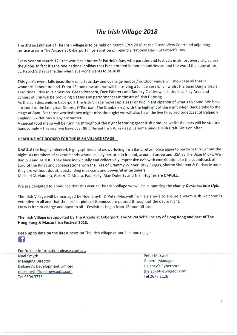 press-release-the-irish-village-2018